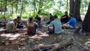 At the end of each course our survival instructors debrief to better themselves for the next one.
